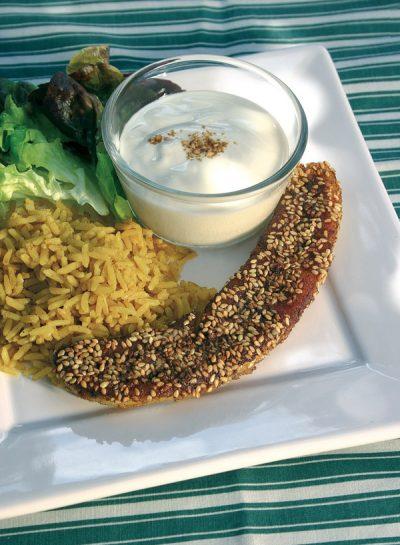 Currybanane mit Reis