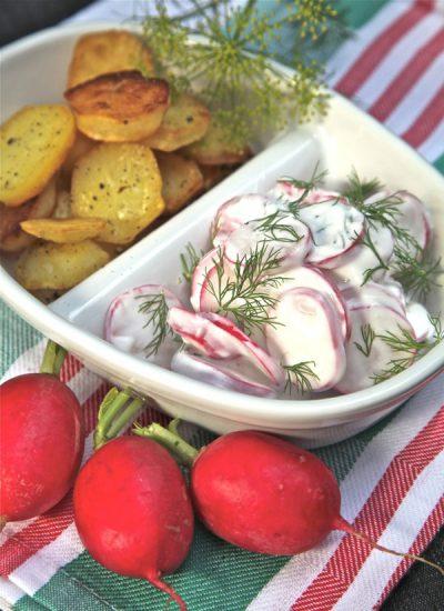 Dillradieschen mit Bratkartoffeln