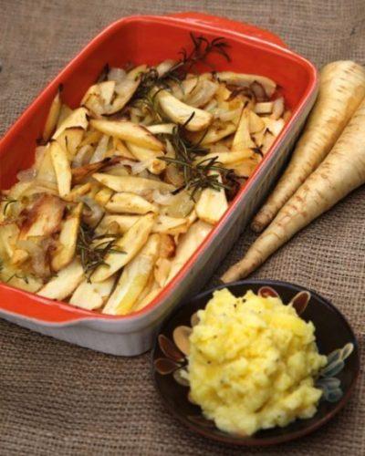 Balsamicopastinaken mit Kartoffelstampf