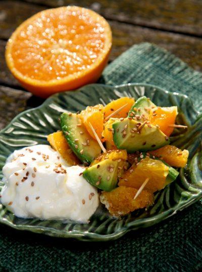 Orangen-Avocado-Salat