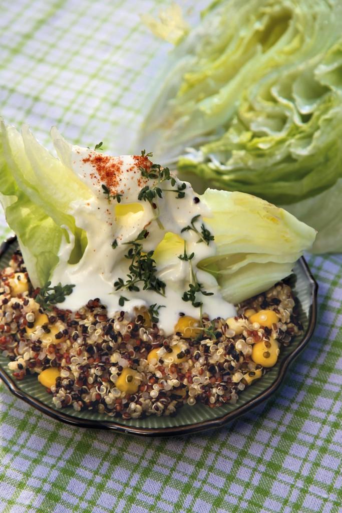 Salatschiffchen und Quinoa