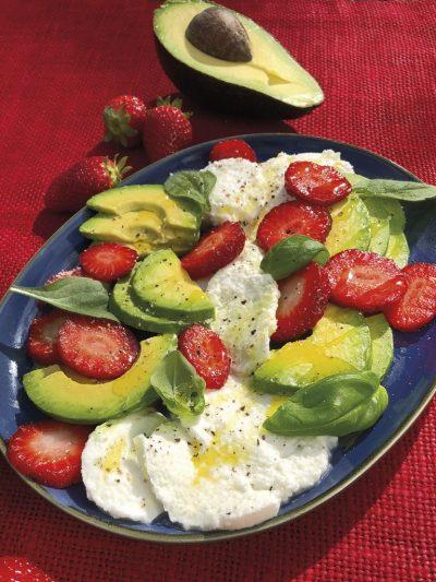 Erdbeer-Avocado-Platte