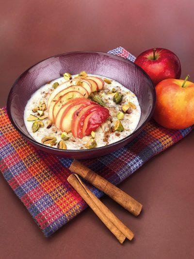 Porridge mit warmem Zimtapfel