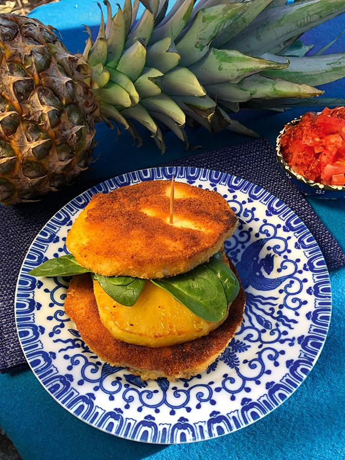 Sellerieburger mit Ananas