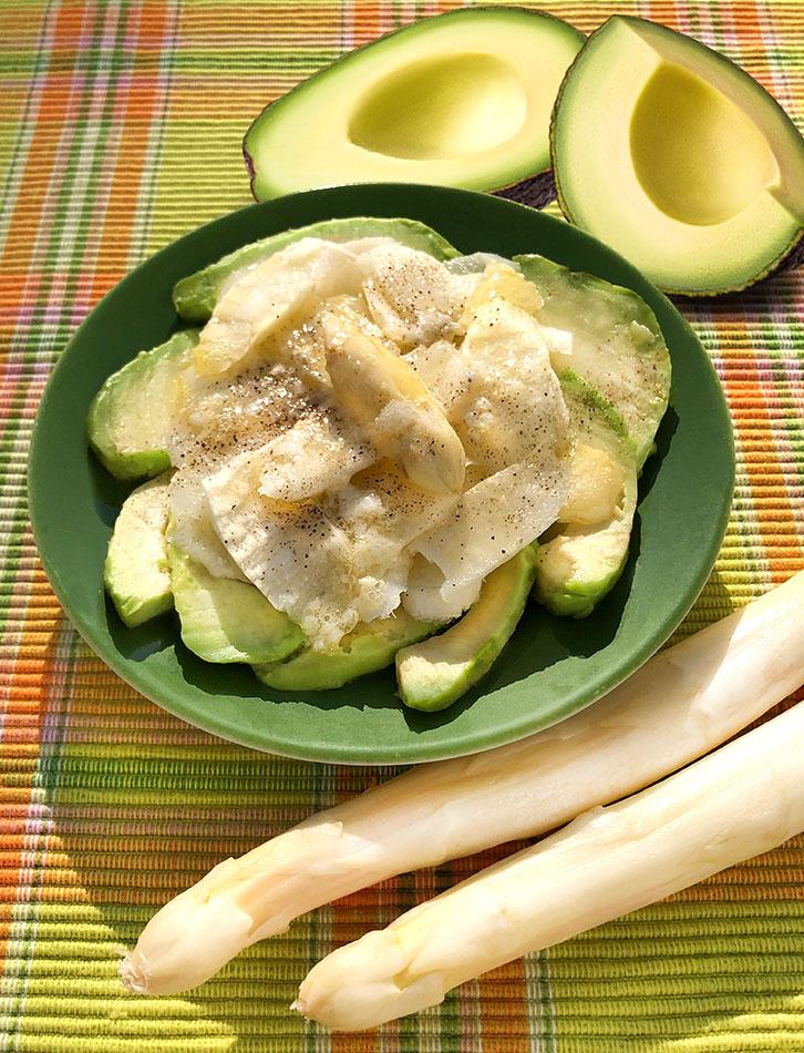 Spargel-Avocado-Carpaccio