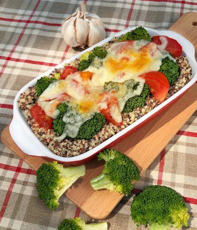 Brokkoli-Quinoa-Auflauf