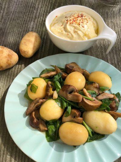 Kartoffelpfanne mit Senfdip