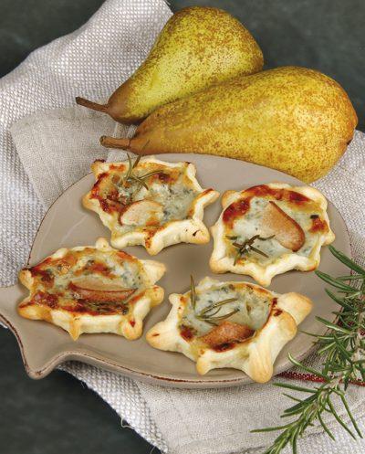 Roqueforttarteletts mit Birne