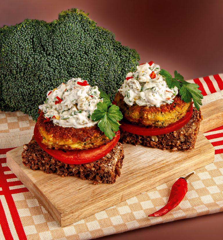 Brokkoli-Burger mit French Dip