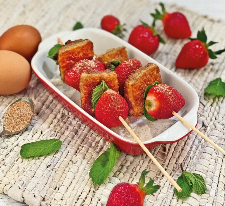 French Toast mit Erdbeeren